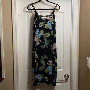 Loveriche button front lattice back dress size S